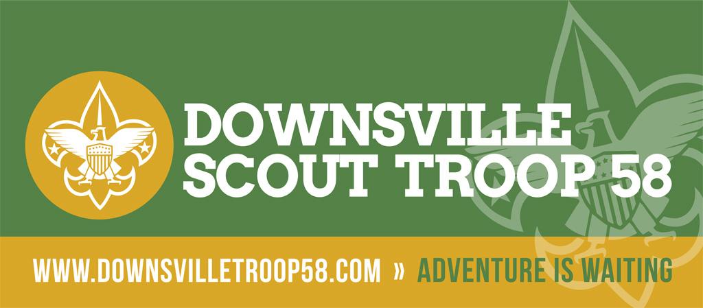 Downsville Troop 58 Banner