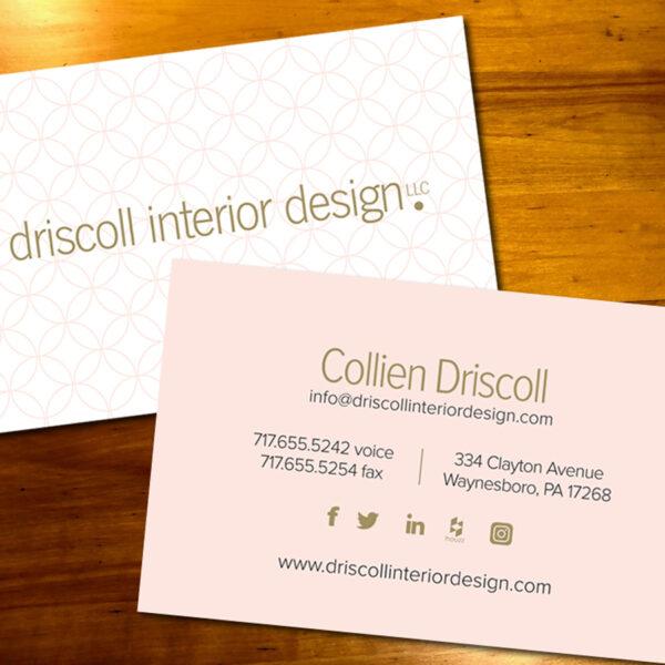 Driscoll Interior Design Business Card
