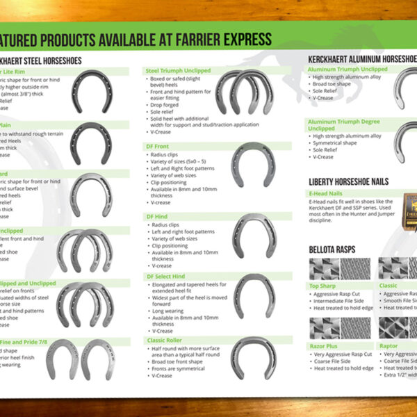 Farrier Express Price List and Brochure