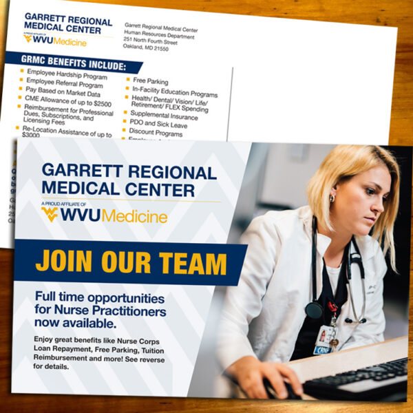 Garrett Regional Medical Center Recruitment Post Card