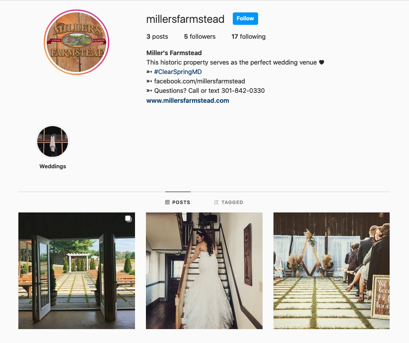 Miller's Farmstead Instagram
