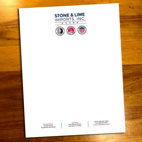Stone & Lime Imports, Inc. Letterhead