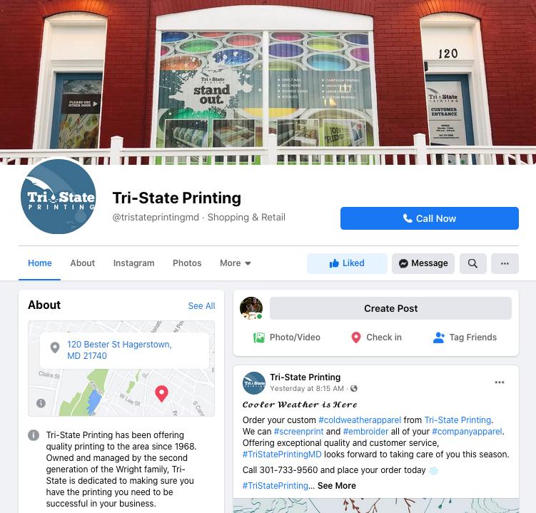 Tri-State Printing Facebook