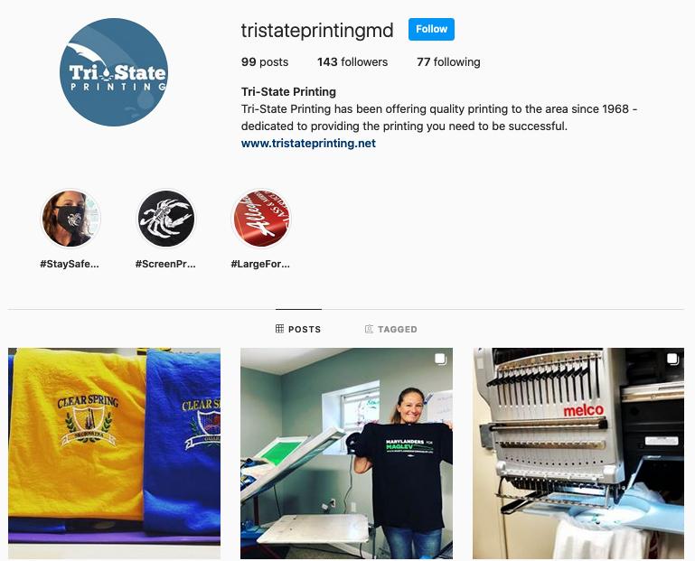 Tri-State Printing Instagram