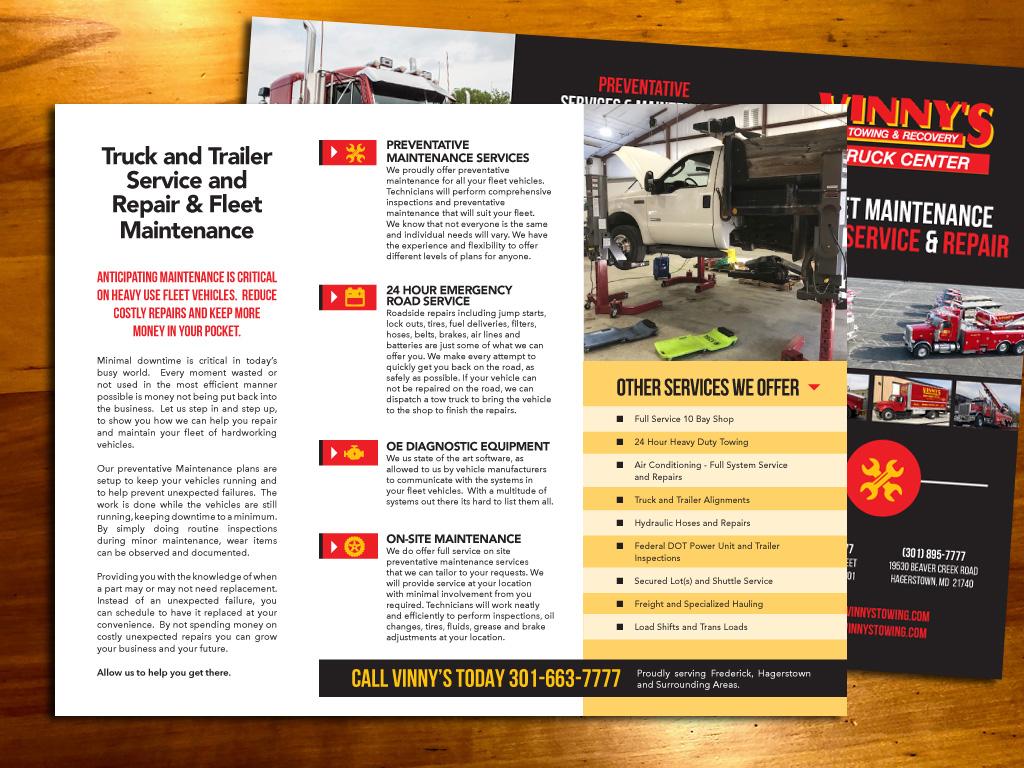 Vinny's Brochure Page 2