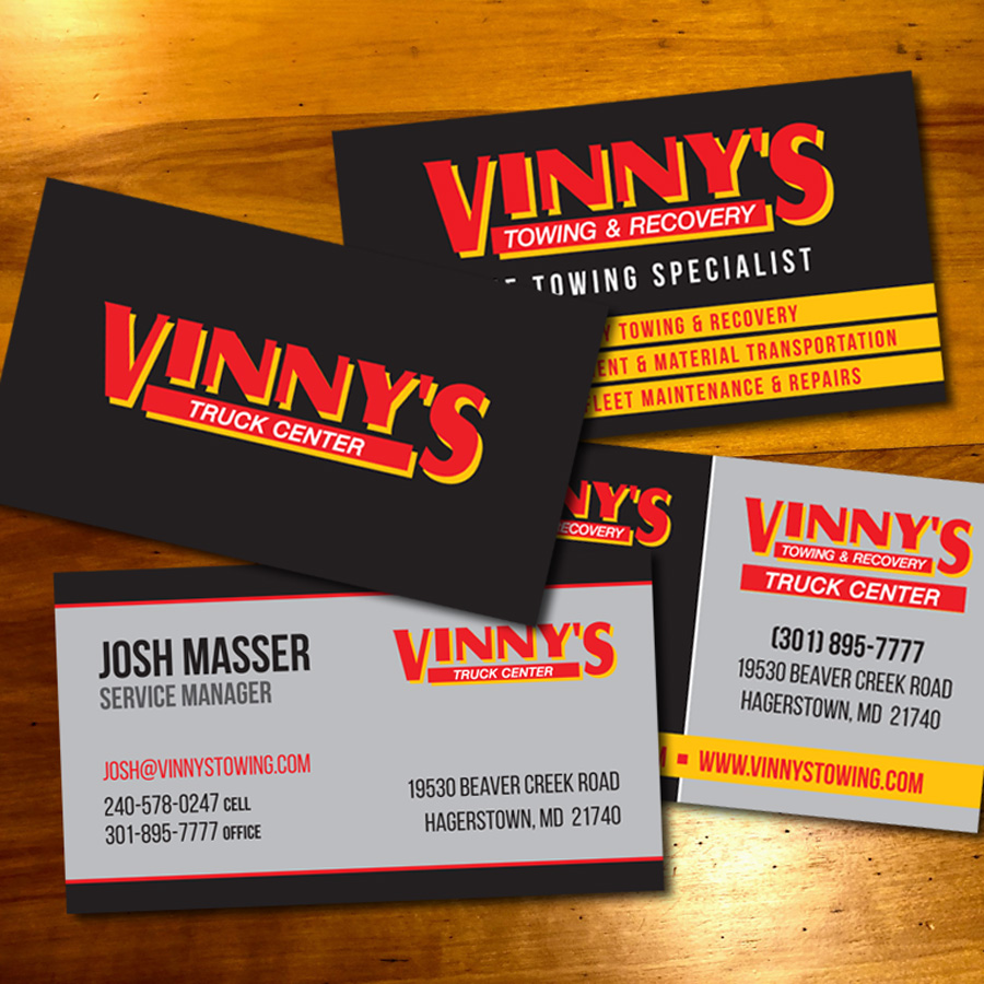 Vinny's Towing and Recovery Business Card